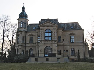 Zborovice - New Chateau (Friess Villa), a four-wing building with a courtyard, built between 1890-1891 by Fellner und Helmer.