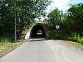 Zelené Předměstí, východní silniční most přes severní prodloužení ulice U Trojice (02).jpg