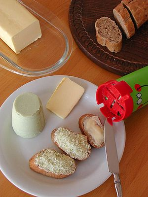 Zigerbrüt, cheese grated onto bread through a ...
