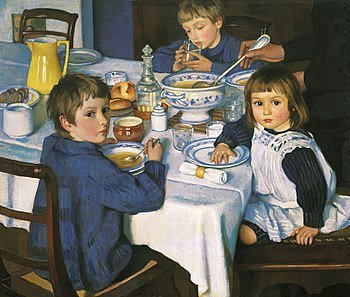 Zinaida Serebryakova (1914) At Breakfast.jpg