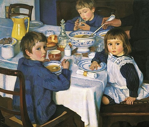 Zinaida Serebryakova (1914) At Breakfast