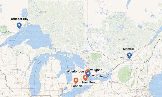 50 più incontri Canada