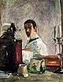 (Albi) Auto-portrait devant un miroir - 1882 Toulouse-Lautrec - MLT.20.jpg