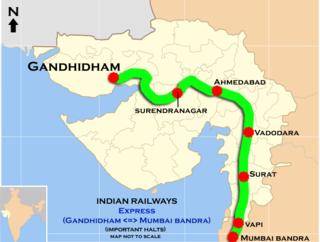 Bandra Terminus–Gandhidham Weekly Superfast Express Train in India