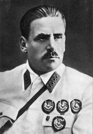 Order of the Red Banner - Marshal of the Soviet Union Vasily Blyukher wearing four first variant Orders of the Red Banner