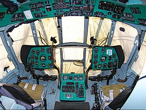 Mil Mi-8 - Cockpit view