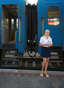 A Train Attendant Provodniza In Russian