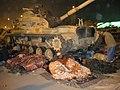 Спящие манифестанты у танка M60, Египетская революция 2011, Каир.jpg