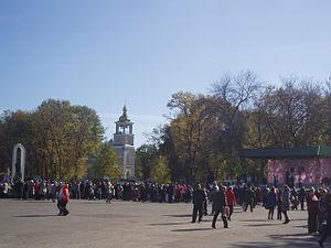 У центрі Гадяча (Соборна площа), жовтень 2010 року