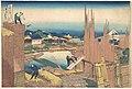 冨嶽三十六景 本所立川-Tatekawa in Honjō (Honjō Tatekawa), from the series Thirty-six Views of Mount Fuji (Fugaku sanjūrokkei) MET DP141077.jpg