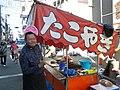 東京都豊島区巣鴨の巣鴨地蔵通り商店街縁日のたこ焼き屋.JPG