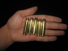 500 S&W Magnum hunting load with 500 gr. SP bullet by Hornady.