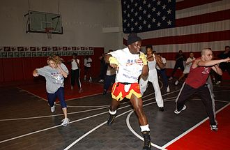Billy Blanks - Blanks onboard USS La Salle in January 2002