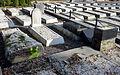 02015 0723 Umgestürzte Grabsteine am Jüdischen Friedhof nach dem Dziady-Fest 2015 (Fest der Todten) in Bielsko (1).JPG