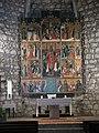 076 Església de Sant Pere (Púbol), reproducció del retaule de Bernat Martorell.jpg