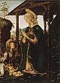 11 Francesco Botticini Madonna in adorazione del Bambino e un angelo 58x44cm, 1475-98. Avignone , Musée du Petit Palais - копия.jpg