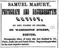 1858 Samuel Masury advert Boston Directory.png