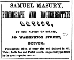 1858 Samuel Masury advert Boston Directory.png