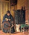 1866 Jessen Alte Frau am Spinnrad anagoria.jpg
