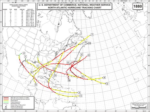 1884 Atlantic hurricane season