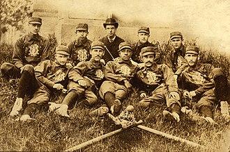 Weldy Walker - 1883 Michigan baseball team, Weldy Walker in the center of the front row