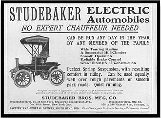 Studebaker Electric - Studebaker electric vehicle ad.