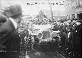1908 New York to Paris Race - De Dion-Bouton car at Utica