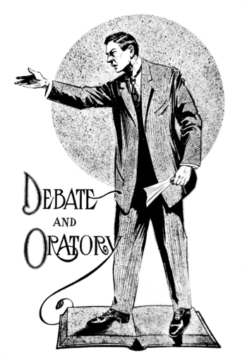 "English: ""Debate and Oratory"". Image..."