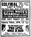 1921 Colonial theatre BostonGlobe 6April.png