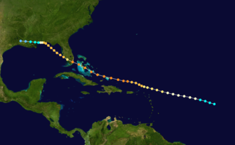 1926 Miami hurricane - Image: 1926 Miami hurricane track