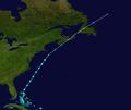 1943 Atlantic tropical storm 5 track.png