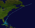 1953 Atlantic tropical storm 10 track.png