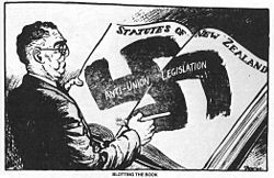 A Cartoon Comparing Hollands Reaction To The Strike Nazism