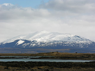 Hekla stratovolcano in the south of Iceland