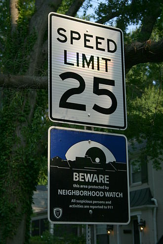 Neighborhood watch - Speed limit and neighborhood watch signs in Durham, North Carolina, United States.