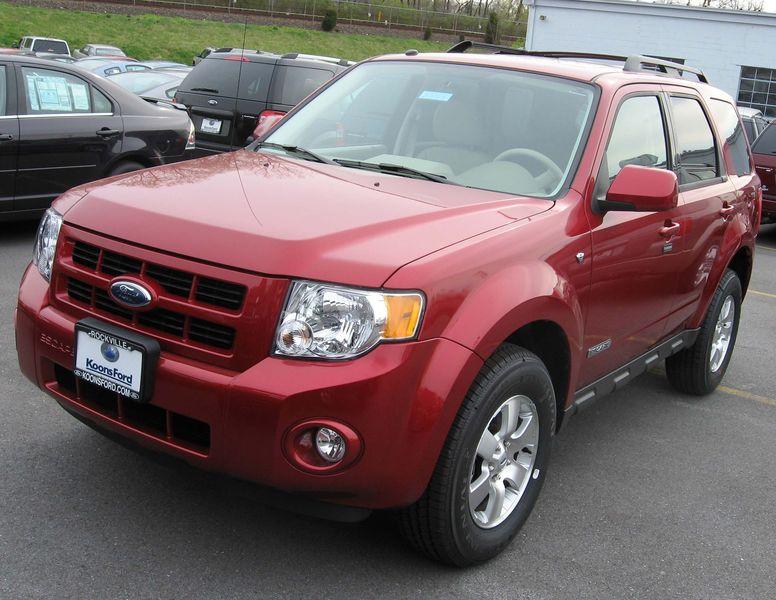2008 Ford Escape Red Color