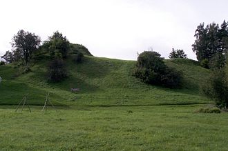 Northern Crusades - Tērvete castle hill in 2010.