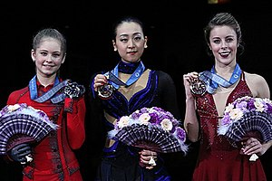 2013–14 Grand Prix of Figure Skating Final - The ladies' medalists