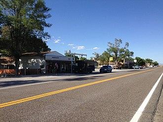 Montello, Nevada - Image: 2014 06 11 17 09 24 Buildings along Nevada State Route 233 (Montello Road) in Montello, Nevada