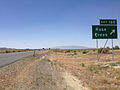 2014-06-12 12 35 00 Sign for Exit 168 along westbound Interstate 80 and southbound U.S. Route 95 near Rose Creek, Nevada.JPG