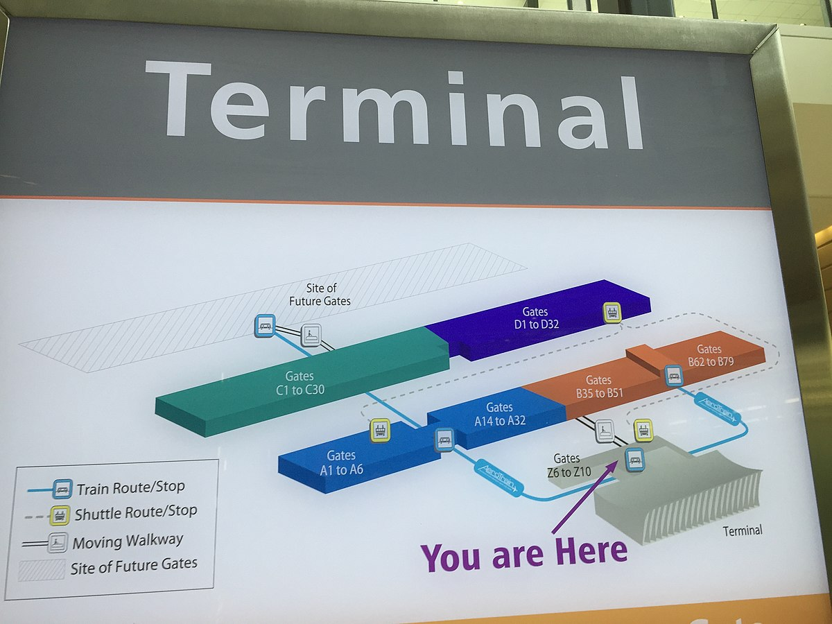 dulles airport car rental map Washington Dulles International Airport Travel Guide At Wikivoyage dulles airport car rental map