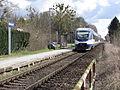 20150404 xl 3589-Station Herrensee der Ostbahn im Ortsteil Herrensee der Gemeinde Rehfelde mit Zug der NEB.JPG