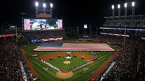 2016-10-06 Progressive Field before ALDS Game 1 between Cleveland and Boston.jpg