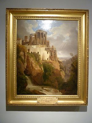 Luigi Basiletti - Luigi Basiletti, Il Tempio delle Sibilla a Tivoli