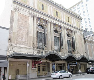 Theatre District, San Francisco - Image: 2017 ACT Geary Theater from east