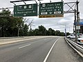 2018-07-22 10 58 29 View north along U.S. Route 1 and U.S. Route 9 and east along U.S. Route 46 at the exit for U.S. Route 9W (Fort Lee, Palisades Parkway, Last Exit in NJ) in Fort Lee, Bergen County, New Jersey.jpg