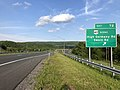 2019-05-17 18 32 09 View east along Interstate 68 and U.S. Route 40 (National Freeway) at Exit 72 (U.S. Route 40 Scenic, High Germany Road, Swain Road) in Bellegrove, Allegany County, Maryland.jpg