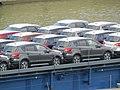 2019-05-19 (348) Suzuki SX4 (2nd generation) on the ship Kelheim at Kraftwerk Melk, Austria.jpg