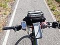 2019 06 24 Alforja del davant, GPS i funda porta mòbil.jpg