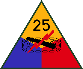 First United States Army Group - Image: 25th US Armored Division SSI